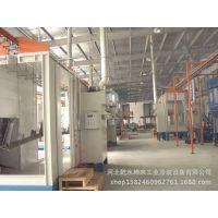专业定制 塑粉生产设备 喷粉房 悬挂链输送线 粉末回收器
