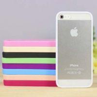 iphone5G 亚克力透明壳 糖果色TPU边框背透 苹果5代手机套 保护壳