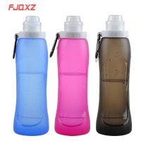 硅胶折叠水壶 便携式水壶 冷水水瓶 户外用品 旅行用品 硅胶折叠水壶