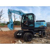 华南重工HNE80型小型轮式挖掘机小型轮胎挖掘机小挖生产厂家对比新源挖掘机价格
