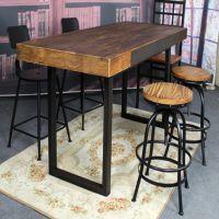 主题餐厅田园风格实木餐桌 海德利长春餐厅桌椅定做