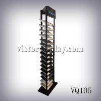 悦科特20层石英石样品展示架VQ105可机加工定制石材落地金属展架