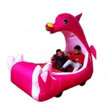 心悦双人海豚儿童电动车/海豚充气电瓶车气模外罩/牛津布料彩灯电动车外罩价格