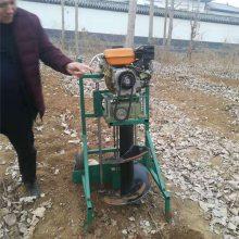 启航牌大马力地钻挖坑机 厂家直销汽油植树机 悬挂式打坑机