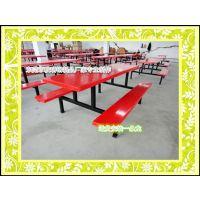 厂直销连体餐桌 员工食堂餐桌组合 东莞康腾玻璃钢餐桌批发