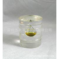 透明树脂油田礼品 亚克力油桶石油类纪念品 水晶胶石油类纪念品