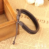 速卖通外贸热销手链 手工编织皮手绳外贸出口好货源