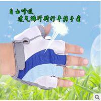 热销一字米手套 自行车短指手套 硅胶耐磨减震一字米半指手套