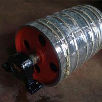输送机滚筒厂家 供应皮带机 传动包胶滚筒
