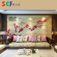 长期提供 梅花环保透气 客厅沙发背景墙
