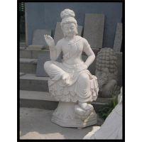 北京石雕观音、石雕观音图片(图)、汉白玉三面石雕观音