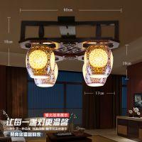景德镇陶瓷灯具批发 中式吸顶灯客厅餐厅灯卧室装饰灯LED吸顶灯饰