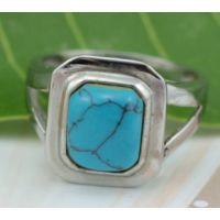 高档欧美风格饰品批发 不锈钢戒指 绿松石戒指 厂家直销