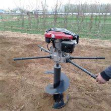 启航牌硬土质植树挖坑机 两冲程打眼机 二冲程地钻挖坑机