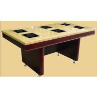 北欧/宜家 实木火锅桌定做 大理石火锅桌 倍斯特餐厅家具提供图纸样品