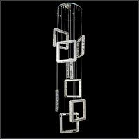 现代简约楼梯吊灯酒店餐厅时尚艺术吊灯卧室客厅led水晶吊灯卡骐灯饰照明
