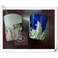 浮雕金属玻璃杯 世界旅游风景杯 创意礼品杯 纪念品 玻璃酒杯定制