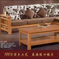 全实木沙发  实木转角沙发 贵妃实木沙发 千千美品牌 实木家具