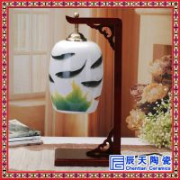 温馨床头柜陶瓷台灯卧室现代中式创意可爱田园装饰古朴简约陶瓷灯