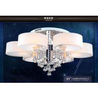 客厅灯LED吸顶灯现代简约水晶灯饰节能豪华圆形大厅灯餐厅灯具