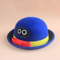 出口外贸原单秋冬款韩版女童呢料圆顶盆帽宝宝羊毛呢帽渔夫帽礼帽
