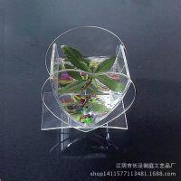 亚加力鱼缸 有机玻璃展示架 亚克力透明盒子压克力展架