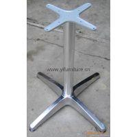 厂家直销批发餐桌十字亮光桌架咖啡十字桌架铸铝台脚户外特价桌架