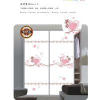 厂家直销 简约时尚UV打印魔幻5D玻璃衣柜门 优质卧室推拉衣柜门 彩绘超白玻璃平移门