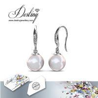 戴思妮 耳环 采用施华洛世奇元素 水晶珍珠耳环 饰品 厂家直销