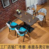 深圳南山厂家直销美式乡村咖啡厅餐实木餐桌,餐厅餐桌,尺寸定做,扬韬!