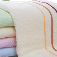 宏春竹纤维棉质21支股纱通用毛巾 平织包边洗脸巾 可批发