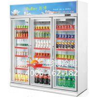 深圳罗湖东门提供商用保鲜冷藏三门饮料柜冰柜展示柜