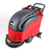 供应克力威自动洗地机 XD18W手推式洗地吸干机 常州电瓶洗地机报价