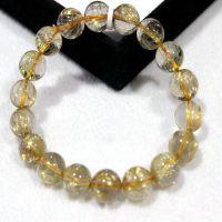 东海水晶天然水晶钛晶手链男女款 金发晶手链招财 一图一物