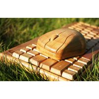 高档竹鼠标键盘 优质竹板材