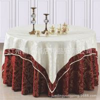 爵鼎五星级酒店桌布餐桌布餐厅台布布料绣花圆桌台布