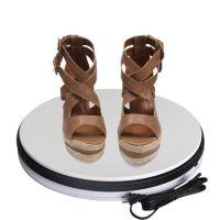 鞋子展示电动转盘 360度旋转 陈列展示道具 终端橱窗3D动态转盘
