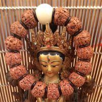正宗尼泊尔5瓣金刚扇面佛珠手串批发 手持菩提子无齿切片打磨饰品