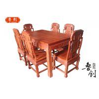 1.48米福禄寿餐桌7件套价格,东阳鲁创红木家具厂批发