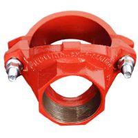 厂家直销潍坊亿佰通牌沟槽管件,消防管道连接可锻铸铁件机械三通。