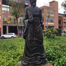 医学院仿铜人物雕塑现货古代名医半身像扁鹊塑像玻璃钢孙思邈站像