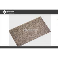 1.0MM不锈钢自由纹2加工价格 304哑光拉丝青古铜门板图片