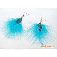 时尚羽毛耳环系列 各种羽毛耳环 孔雀羽毛耳环 明星风尚耳环 饰品
