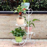 欧式铁艺花架阳台室内多层折叠花架子客厅落地花盆架子 特价