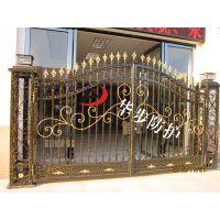 铝型材花件,别墅铝大门铝合金拉闸门,铝艺阳台护栏