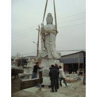 供应石雕人物佛像 滴水观音像 大型汉白玉观音 寺庙广场雕塑