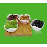 陶瓷零食果盘 坚果 干果碟个性糖果盒创意 居家用品竹制工艺品