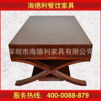 质量保证 欧式圆形桌子 浪漫法式白色圆形酒店餐桌 支持定做