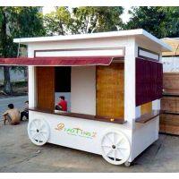 【振兴特惠】供应武汉欢乐谷创意商亭、实木售货车 仿古售货车价格