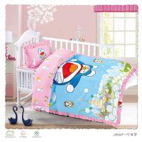 安格家纺幼儿园专用床上用品卡通床套卡通大版花型三四件套儿童纯棉套件